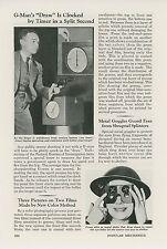 1941 Magazine Article FBI Agents Use Clock to Time Gun Draw Gman Timer