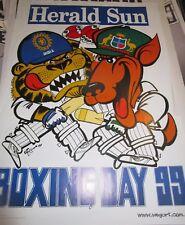 1999 Boxing Day Test Match : Australia v India : Official Weg Poster