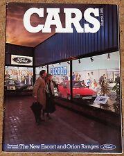 1986 Ford autos FOLLETO Inc Capri XR4x4 XR2 XR3i Cabrio Orion Granada Scorpio