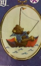 """STARTED INCOMPLETE KIT Cathy GOLDEN OVALS """"SAILING"""" #1275 EMBROIDERY PLS READ !"""