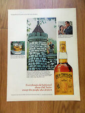 1966 Whiskey Ad Old Taylor Kentucky Distillery