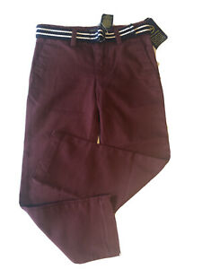 Polo Ralph Lauren Boy's 4T Chino Pants Purple Adjustable Waist belt