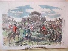 Vintage Print,HER MAJESTY BUCK HOUND,Horse,Illustrated London,May 1855