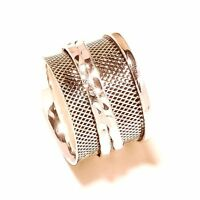 Solid 925 Sterling Silver Wide Band Spinner Ring Jewelry All Size Handmade AK-24