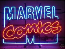 NEON SIGN MARVEL COMICS LOGO HANDICRAFT REAL GLASS TUBE BEER BAR LIGHT GAME ROOM