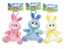 EASTER BUNNY TOY CLIP-ON Push Chair Pastel Plush Rabbit Soft Cuddly Baby Gift UK