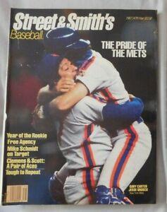 1987 Street & Smith's Baseball Yearbook Gary Carter & Jesse Orosco 1986 Mets