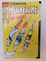 Marvel Comics CODENAME:WOLVERINE Top Secret #50 Jan '91 WEAPON X FILE Cut Out