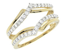 Jacket Ring Guard Wrap Enhancer .47Ct 10K Yellow Gold Diamond Engagement Wedding