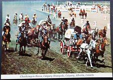 CANADA ALBERTA - POSTCARD - CHUCKWAGON RACES CALGARY STAMPEDE RODEO- UNUSED