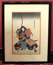 Hasegawa Japanese Woodblock Print Miura Koresuke Bunrako Puppet Sumo Theater Art