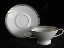 Suppentasse mit Untertasse Rosenthal Form 2000 Gala Blau Raymond Loewy