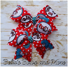 """thing 1 thing 2 pigtails...handmade item 3.5"""""""