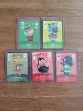 Axel, Eunice+3 Never Scanned Animal Crossing Amiibo Card in Sleeve & Top Loader