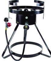 Propane Gas Outdoor Cooker Tripod Stand Cast Iron Backyard Burner Stove Fryer