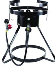 Commercial Grade Outdoor Cooker Tripod Stand Cast Iron Burner Fryer Propane Gas