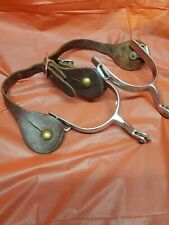 New listing Spurs for Cowboy Boots Leather And Metal