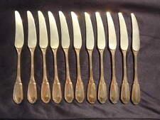 Couteaux desserts vermeil argent massif Orfèvre Français Gustave Keller