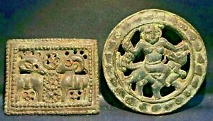 Ancient Luristan Near East Nomadic Bronze Cloths Belt Buckle Antiquities
