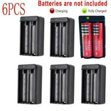 6pcs Dual Battery Charger for 3.7V Rechargeable Li-ion Battery Us Plug Us