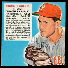 1952 Red Man Tobacco -ROBIN ROBERTS (Phila. Phillies) *AUTOGRAPHED* (d.2010)
