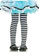 Black and White Stripe Girls Size Med 4 - 6 Tights Stockings