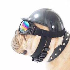 Pet Motorcycle Helmet cap sunglasses Hat Dog Cat Costume Accessory Supplies
