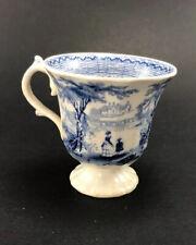 New listing Antique 1840s G. Phillips Marino Longport Ironstone Blue Transferware Teacup