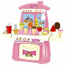 KIds Ice Cream Store Cones & Lolli Stand Parlour Play Set Food Shop Playset