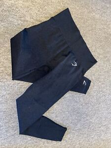 GYMSHARK VITAL SEAMLESS LEGGINGS - BLACK - SIZE M