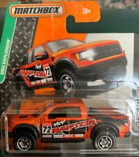 Matchbox #118 Ford F-150 SVT Raptor Orange Pickup Truck MBX Explorers Short Card