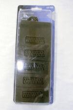 Schwaiger distributore scart quintuplo a 5 vie cablato 21-p nuovo SCV7085 nero