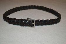"Gap Kid's Black Genuine Leather Braided Belt size Xl 28"" to 30"" (34-1/2"" Long)"