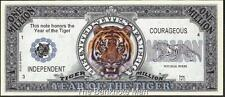 Million Note - Fantasy Money - Chinese Zodiac - Year of the Tiger - Beautiful