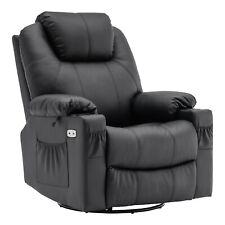 MCombo Elektrisch Relaxsessel Massagesessel 240° drehbar+Heizung+Vibration 7070