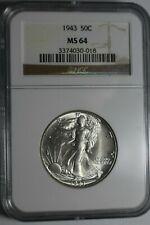 1943 Walking Liberty Half Dollar MS64 NGC #018