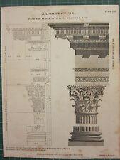 1802 daté impression antique ~ architecture temple de Jupiter Stator à Rome