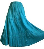 New Age Boho Skirt Gypsy Tiered Hippy Festival Prairie Summer Holidays UK 12