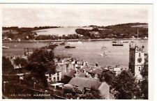 FALMOUTH, CORNWALL - THE HARBOUR B&W  POSTCARD (1947)