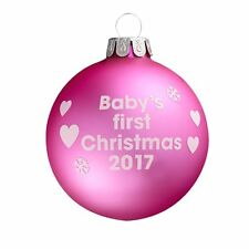 Baby's First Christmas 2017 - Pink Christmas Tree Bauble - Gift Idea?