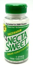 6 1000-Tablet Bottles 1 Grain Necta Sweet Saccharin Tablets NectaSweet