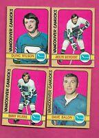 1972-73 OPC VANCOUVER CANUCKS CARD  LOT (INV# J0480)