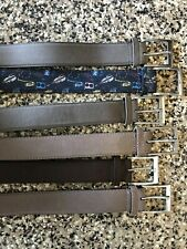LOT of 6 Suede Leather Meyer European Belts - Sz 32 - Tan Brown Khaki Black