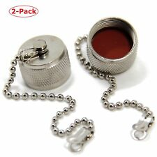 2-Pack N Type Dust Cap Cover With Chain For N-Type Female Connctor Adaptor