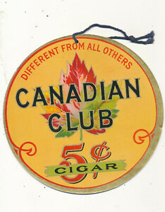M1557 7'  INCH PAPER  CANADIAN CLUB 5C CIGAR FAN  HANGING STORE SIGN