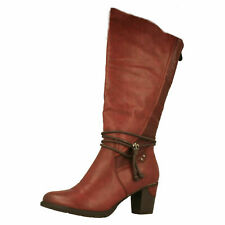 a386b0adc Rieker Women's 96058 Knee BOOTS Red Wine/pomerol/bordeaux/35 7.5 UK