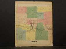 Connecticut Hartford County Map 1869, Town of Bristol !O4#65