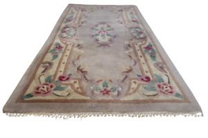 Handgetupfter Orientteppich China art déco carpet tapis rug tappeto 140X70cm