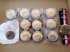 lots de 10 boitiers de montre de plongee vintage   cadrans