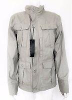 "BNWT Mens M&S AUTOGRAPH 100% beige cotton military jacket size Small 37"" chest"